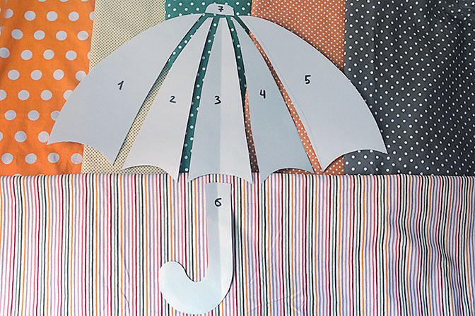 Погода в доме: шьем зонт-подушку своими руками