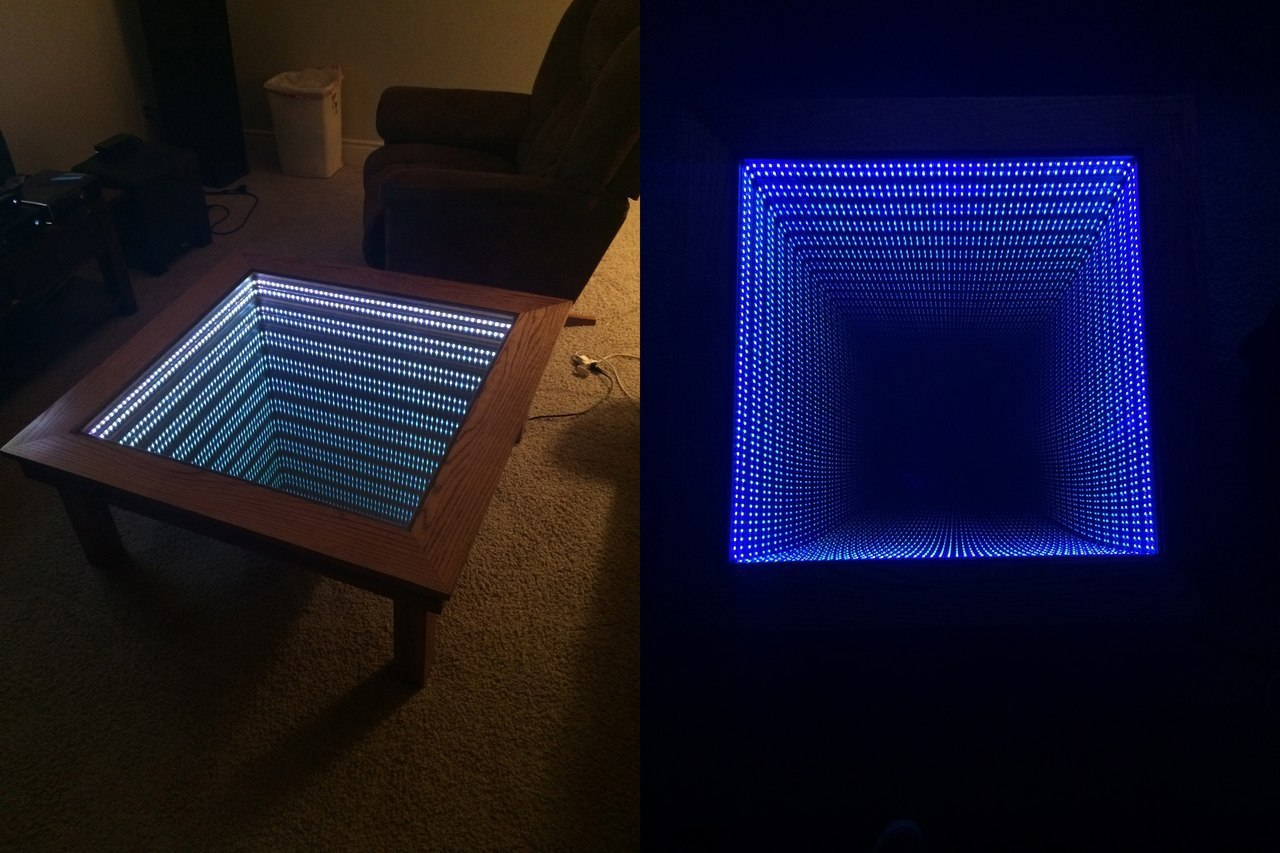 Как сделать стол с эффектом бесконечность