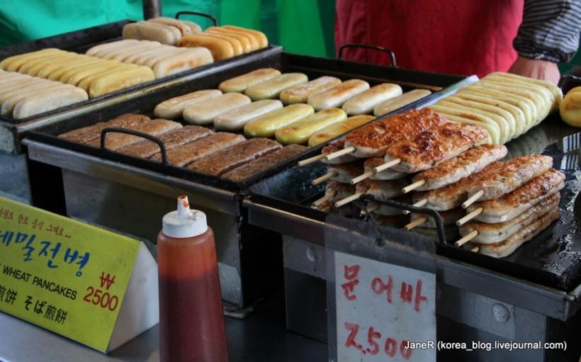 Уличная еда в Корее: жучки и шашлычки