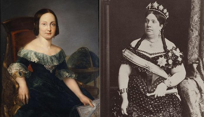 Королева Испании Изабелла II, правившая в 1833-1868 гг.