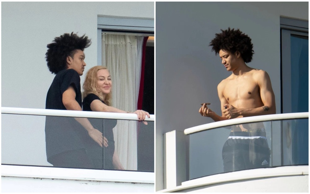 Мадонна с «младенцем»: американская поп-дива приехала в Майами с молодым любовником