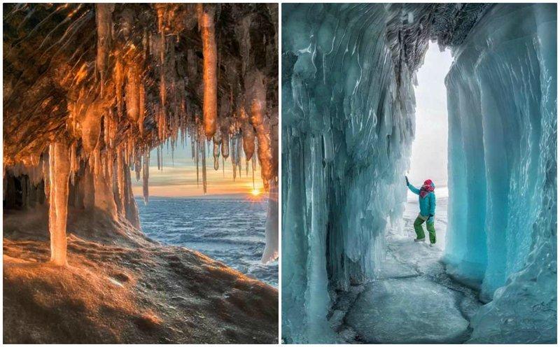 Фантастические ледяные пещеры Байкала в объективе Андрея Грачева