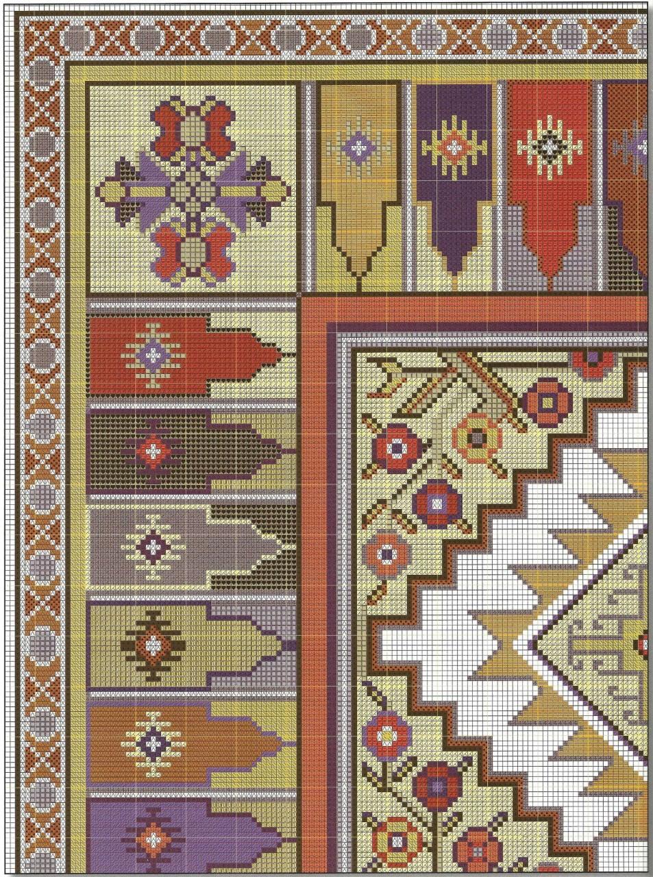 Подушки в восточном стиле - вышивка крестом схема 1