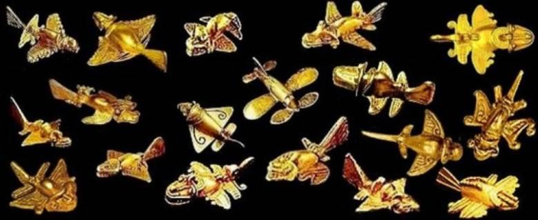 Золотые самолеты индейцев тайрона