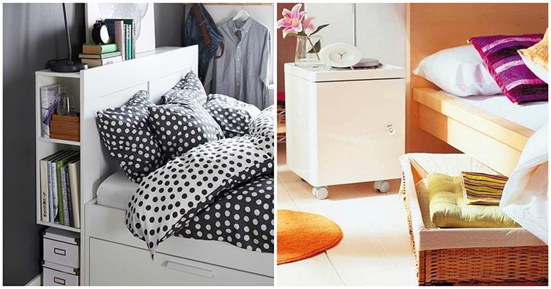 Потайное хранение в кровати: удобные и практичные идеи