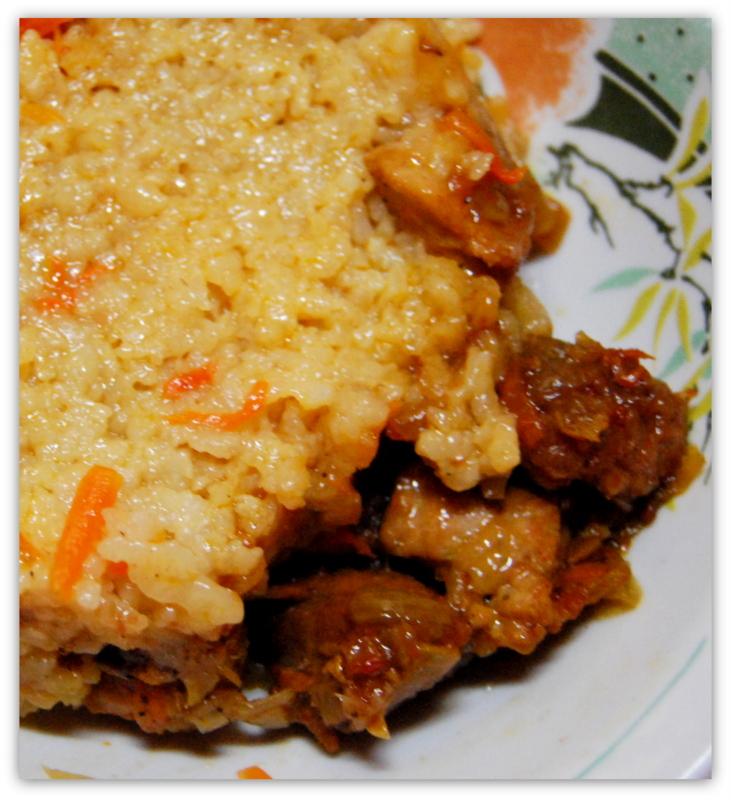 Рис с мясом, так готовит моя мама