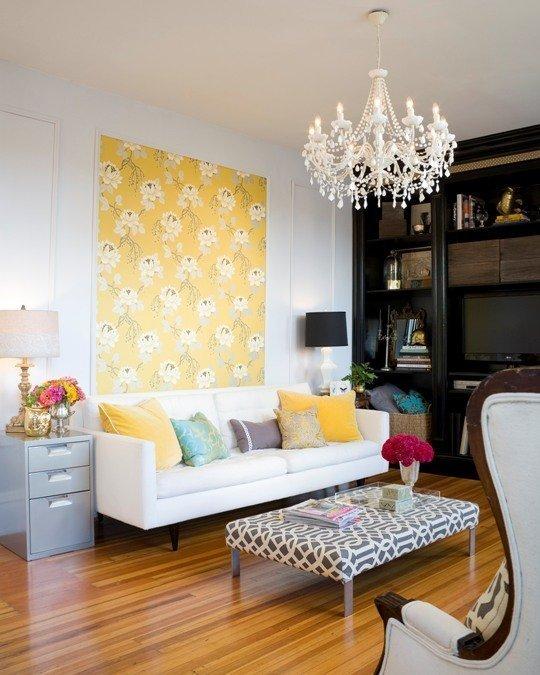Фотография: Гостиная в стиле Кантри, Декор интерьера, DIY, Квартира, Декор, Красный, Зеленый, Желтый, Синий, Голубой – фото на InMyRoom.ru