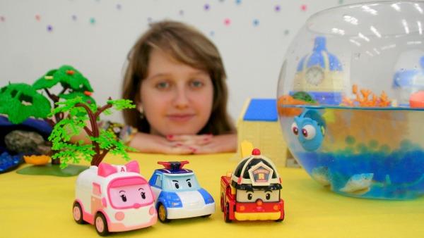 Робокар Поли спасение рыбки Дори игрушки из мультфильма в поисках ДОРИ