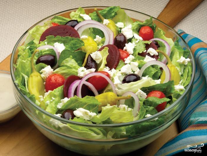 простой рецепт горячего салат