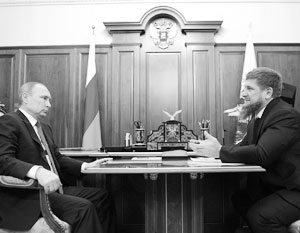 Кадыров пожелал Путину пожизненно управлять страной
