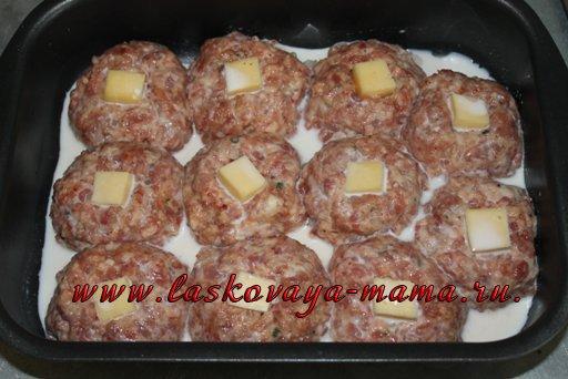 Котлеты с сыром сверху в духовке рецепт