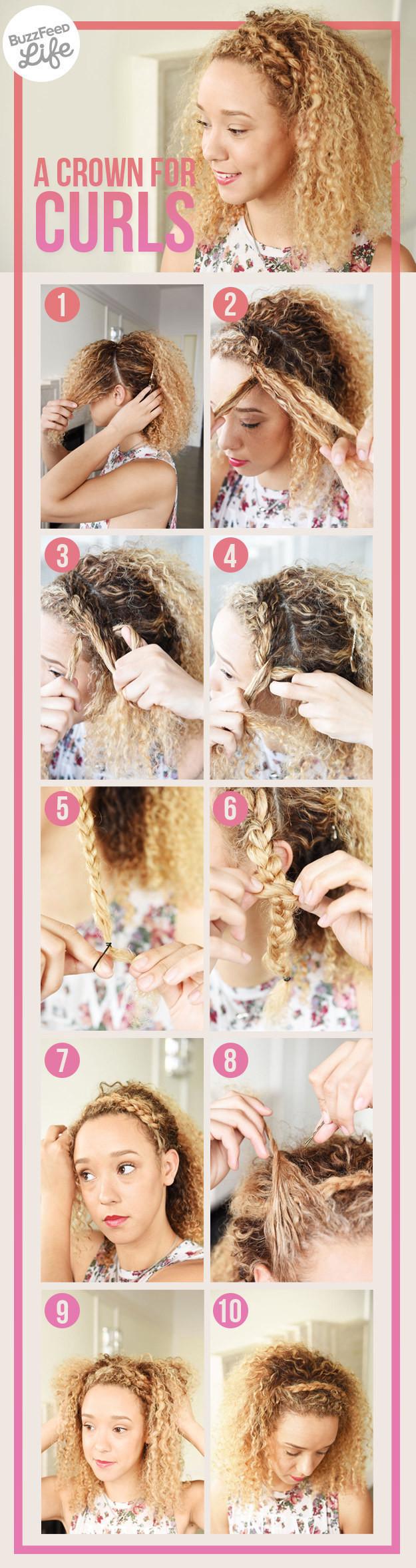 Коса-ободок волосы, кудри, прическа