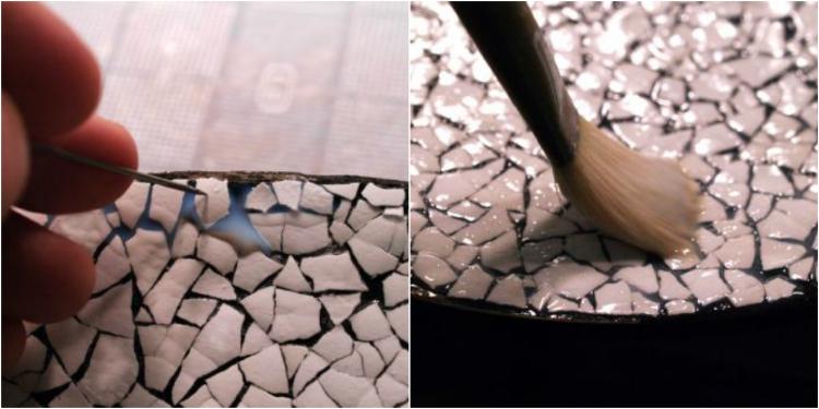 >мозаика из яичной скорлупы» itemprop=» data-cke-saved-src=»http://mtdata.ru/u5/photo04E8/20413444044-0/original.jpg#20413444044″></p> <p>Технология проста: на обезжиренную заготовку нанеси клей ПВА, выложи скорлупу, сверху приложи фрагмент салфетки (или целую), придави, чтобы прорисовался рельеф, дай просохнуть. Со скорлупы предварительно удали пленку.</p> <p>Посмотри, что получается в итоге!<br /><img src=
