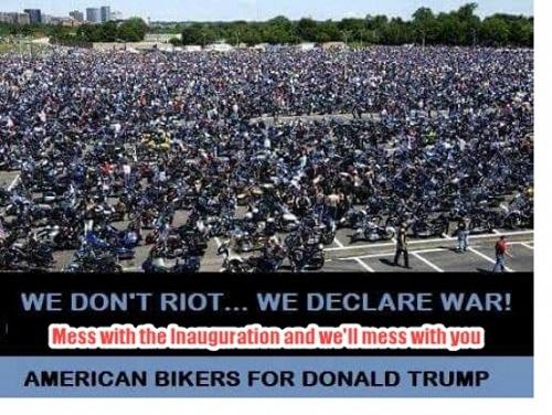 2 000 000 амерских байкеров объяснят либерастам про Трампа и про инаугурацию