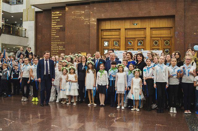 Голубая лента России. В Музее Победы состоялся экологический флешмоб