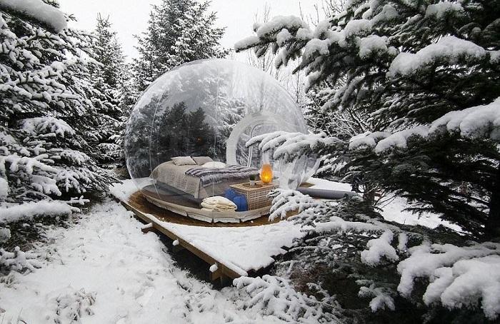 В Исландии открылся отель с номерами в виде мыльных пузырей: они абсолютно прозрачные