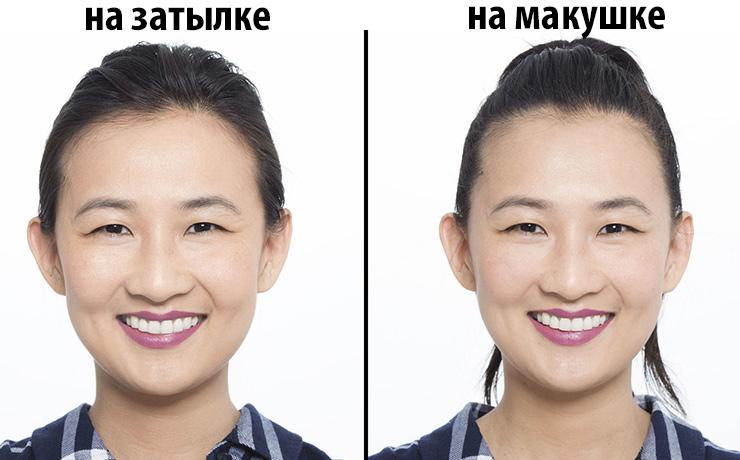 сделать лицо визуально фото