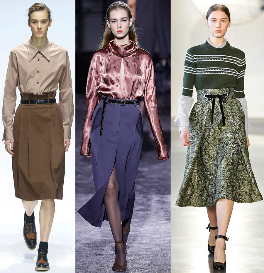 Какие юбки модно осенью 2017