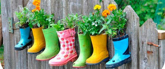 полки для цветов из обуви