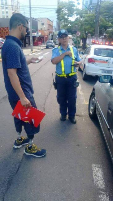 Парню выписали штраф за парковку на месте для инвалидов без разрешения