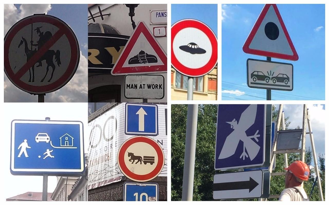 Необычные дорожные знаки, которые призывают к действию, но непонятно к какому