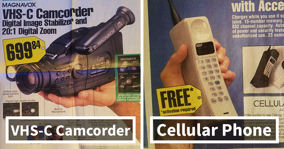 Best Buy Flyer From 1994 Shows The Hottest Technology From Days Gone By, And It's Hilarious Now