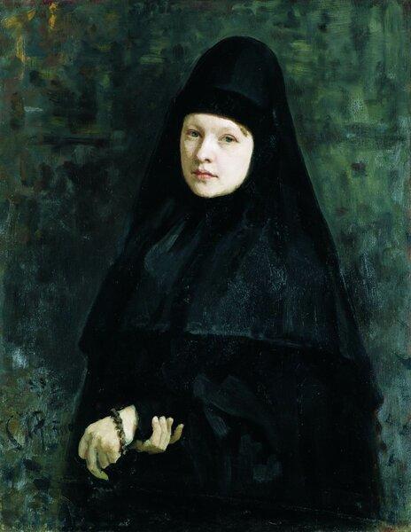 Тайна женского образа с картины. Зачем Илья Репин светскую даму написал монахиней