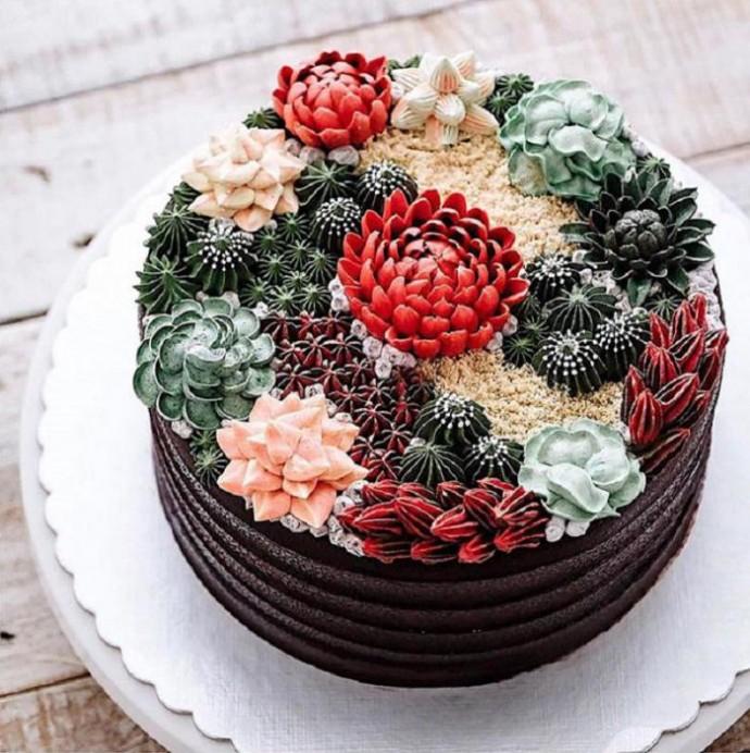 Потрясающее мастерство: эти десерты выглядят как настоящие суккуленты