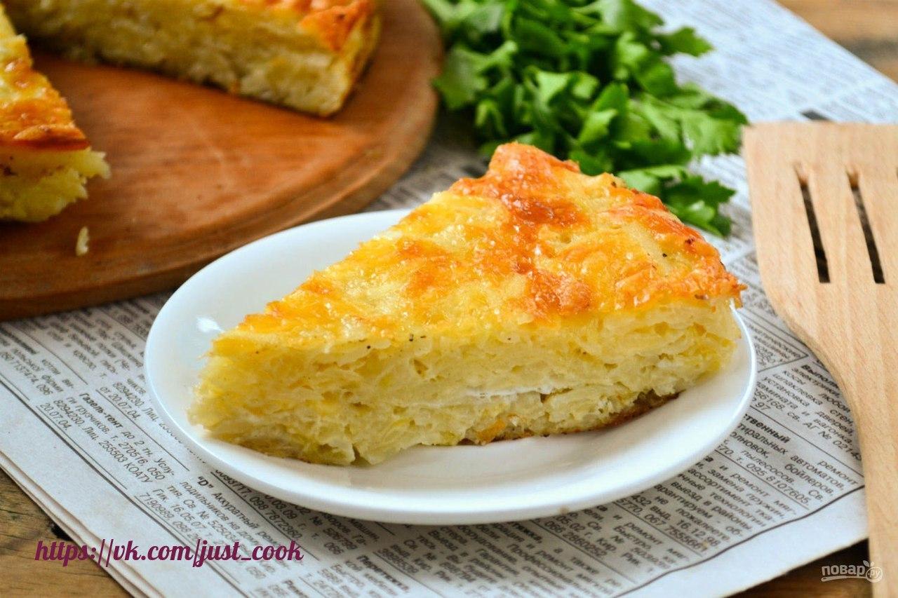 Посидим, поедим... Запеканку из тертого картофеля с сыром и чесноком