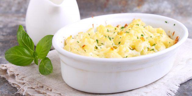 Цветная капуста в духовке со сметаной, майонезом и яйцами: лучший рецепт