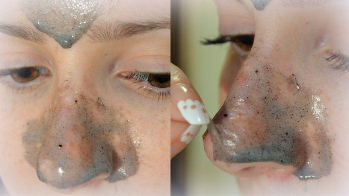 скраб на носу