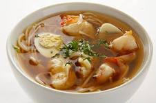суп с креветками и яйцами