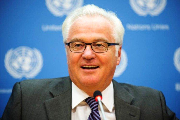 Чуркин на заседании Совбеза ООН подшутил над коллегой из Украины, выбравшим для общения английский язык
