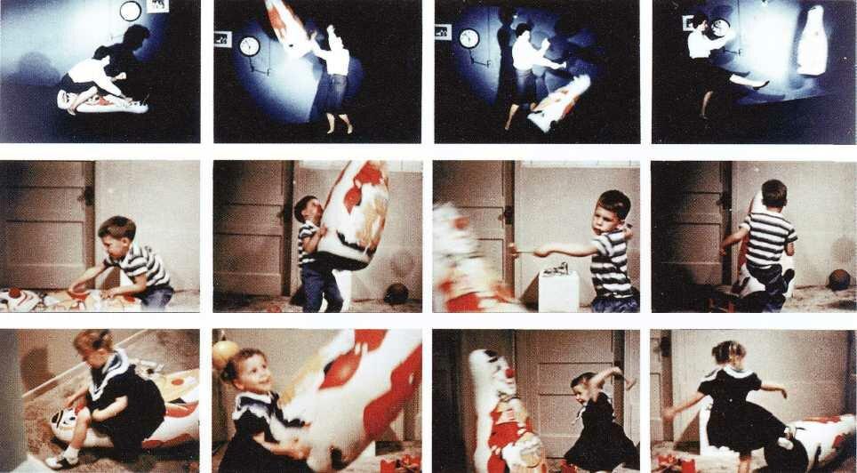 Фотографии, сделанные в ходе эксперимента с куклой Бобо