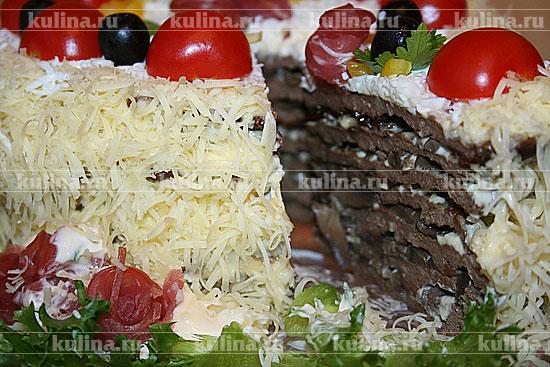Печеночный торт праздничный