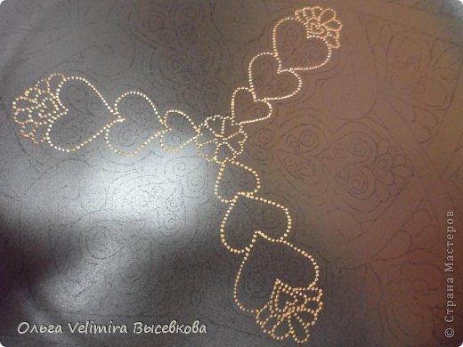 Декор предметов Роспись Тарелка Сердце Востока МК для начинающих Краска Стекло фото 6
