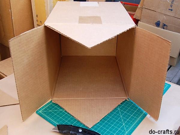 Как из картонной коробки сделать домик для ребенка
