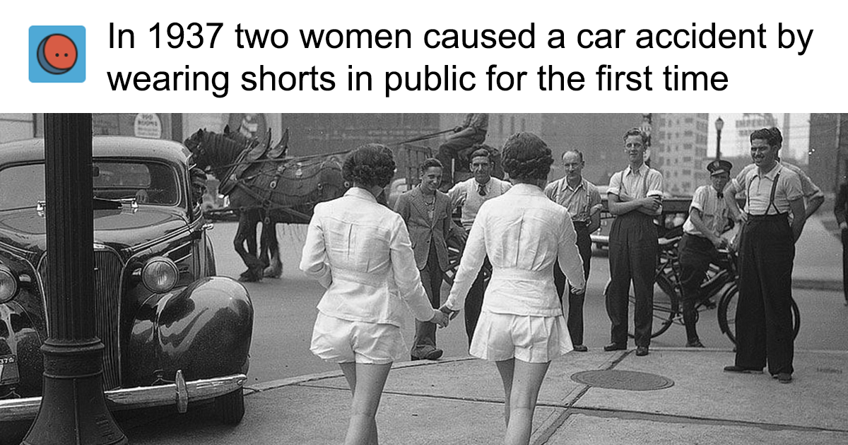 Someone Claims 'In 1937 Two Women Caused A Car Accident By Wearing Shorts', This Woman Blames Men – All Get Shut Down With Facts