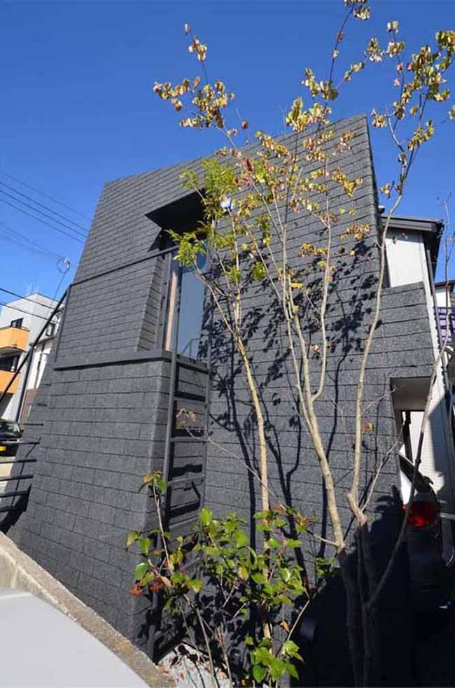 Необычный черный дом-гараж в…