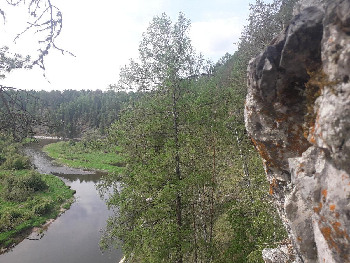 Река Серга особенно хороша сверху. Фото автора.