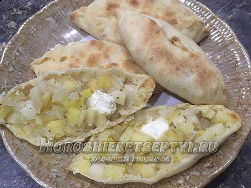 Татарские пирожки с картошкой Тэкэ