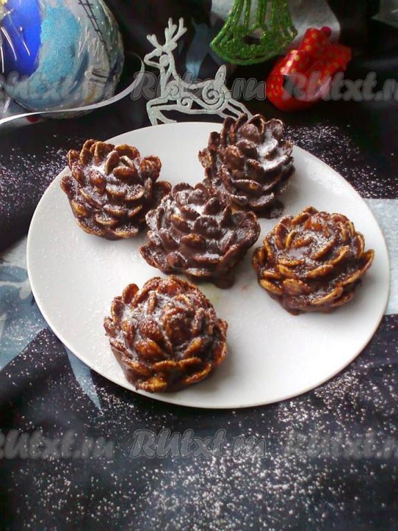 Десерт «Шишки» без выпечки — нарядно и вкусно