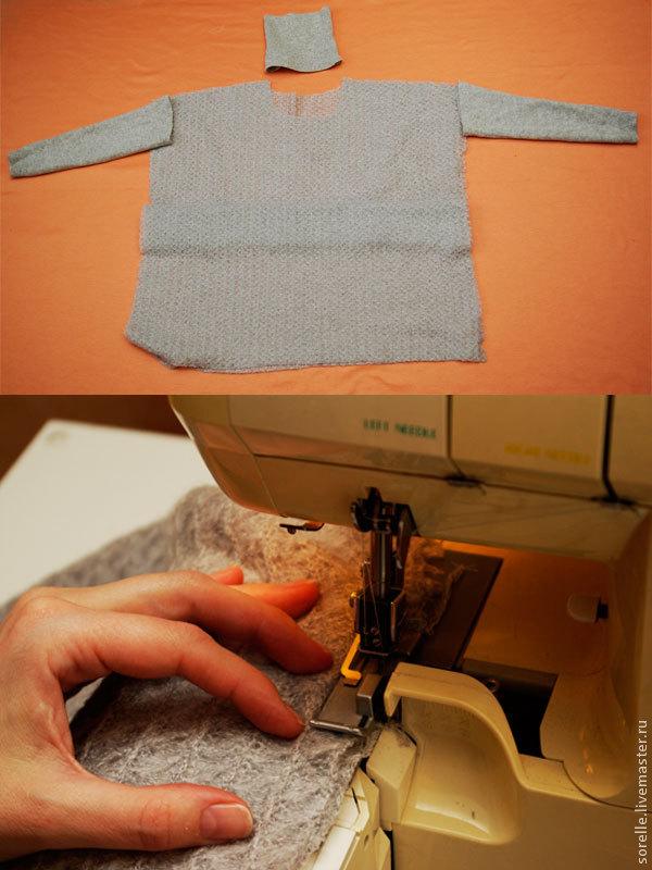 Переделка свитера в стильную вещицу