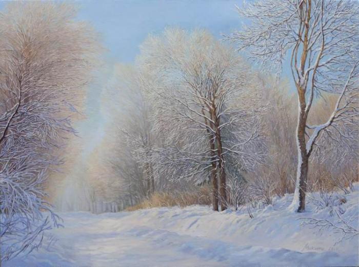 зимние пейзажи Ольга Дидык - 05