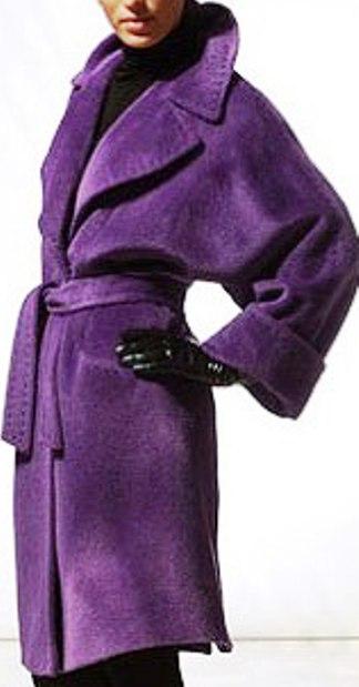 Тренды сезона — фиолетовое пальто.  Как выбрать и с чем его носить вы узнаете из нашего фото-обзора