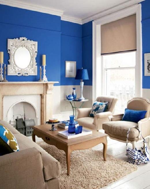 Влияние цвета интерьера на человека. Синий.