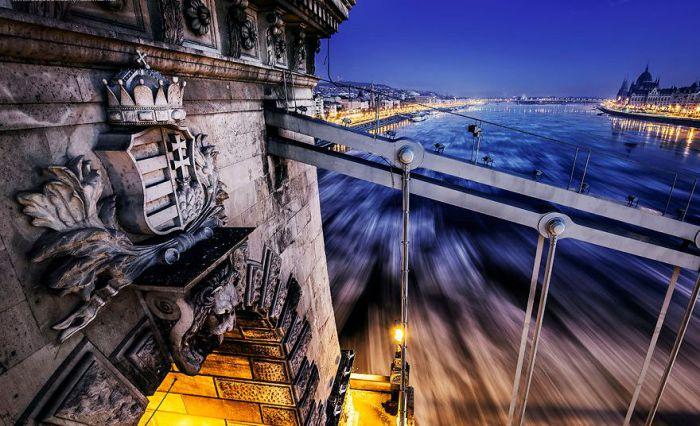 Хрустящая корочка льда: красочные фотографии Дуная в двадцатиградусный мороз