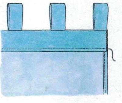 Как сделать петли для занавески своими руками
