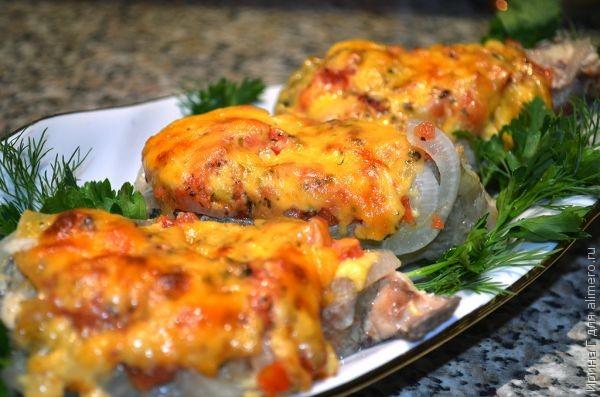 стейки кижуча в духовке рецепт с сыром