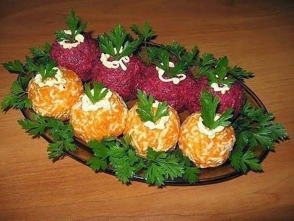 Овощные закусочные шарики